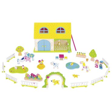 GOKI 58543 Susibelle Holz Mein Bauernhof 53 Teile Pink Rosa  – Bild 1