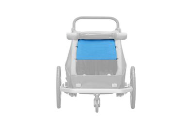 CROOZER Kid Plus for 1 Sonnenschutz Ocean Blue