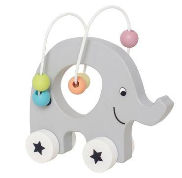 JABADABADO C2505 Nachziehtier Elefant Grau
