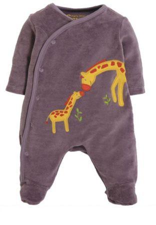 FRUGI Strampler Little Swoop Babygrow Mauve Giraffes Gr. 68 80