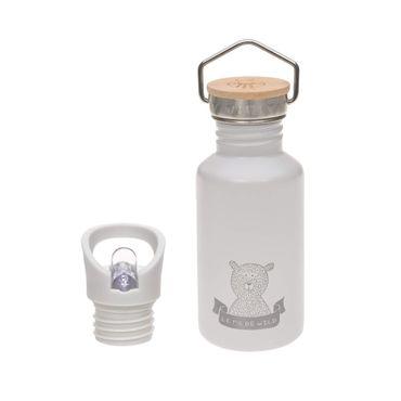 LÄSSIG Edelstahlflasche mit zusätzlichem Sport Cap 500 ml Adventure Outdoor grey