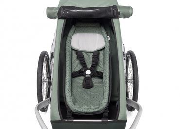 CROOZER Babysitz Kid Vaaya und Keeke - Kid + Kid Plus ab 2014 Jungle Green – Bild 2