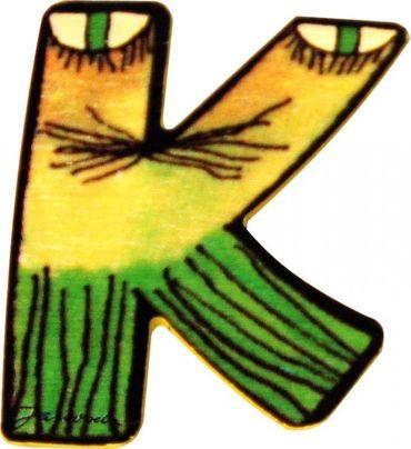 JANOSCH Holzbuchstabe K 6 cm Deko Kinderzimmer Namen Geschenk