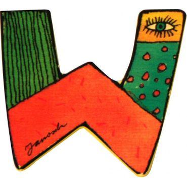 JANOSCH Holzbuchstabe W 6 cm Deko Kinderzimmer Namen Geschenk