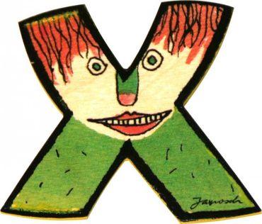 JANOSCH Holzbuchstabe X 6 cm Deko Kinderzimmer Namen Geschenk