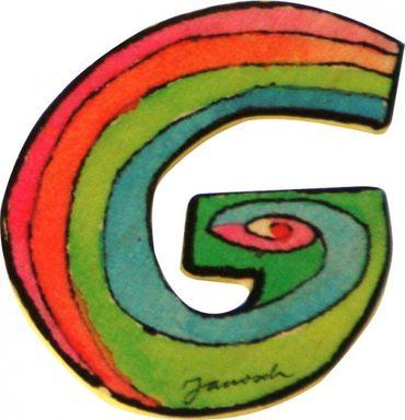 JANOSCH Holzbuchstabe G 6 cm Deko Kinderzimmer Namen Geschenk