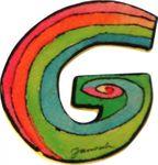 JANOSCH Holzbuchstabe G 6 cm Deko Kinderzimmer Namen Geschenk 001