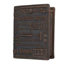 H.I.S Herren Geldbeutel Portemonnaie Geldbörse Braun 1228