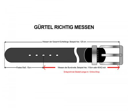 LLOYD Men's Belts Gürtel Herrengürtel Ledergürtel Schwarz 175 – Bild 5