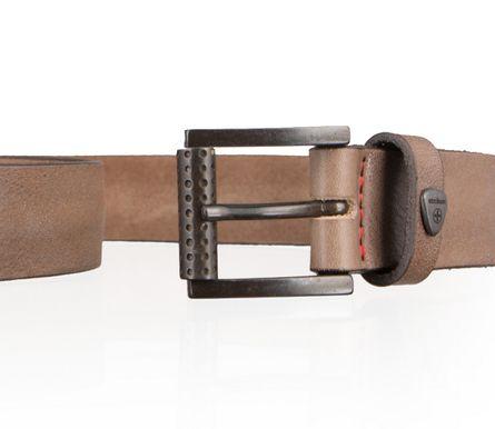 Strellson Gürtel Herrengürtel Rindleder Ledergürtel Grau 2848 – Bild 3