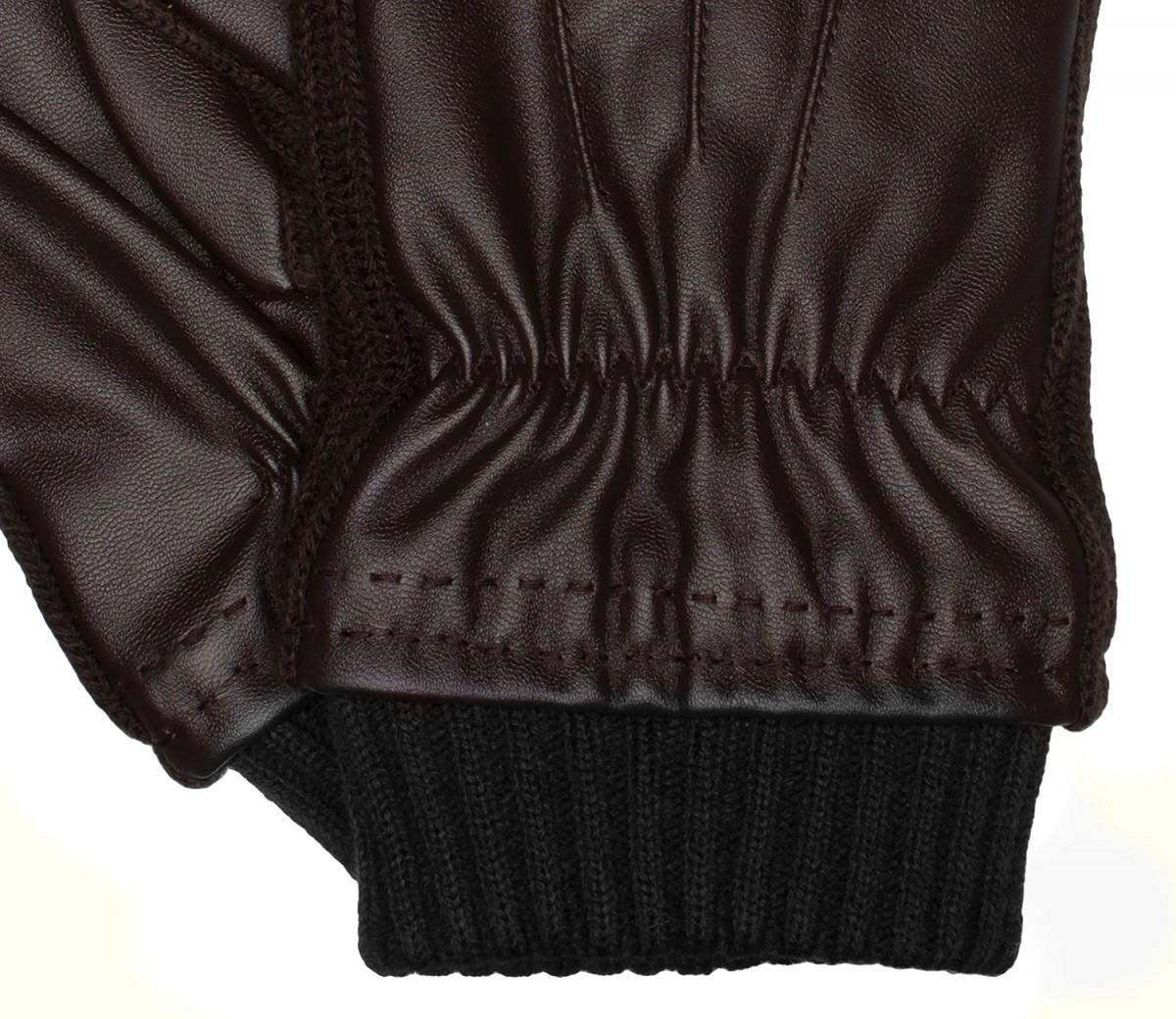 handschuhe herrenhandschuhe lederimitat braun 3361. Black Bedroom Furniture Sets. Home Design Ideas