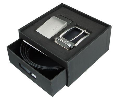 PICARD Gürtel Ledergürtel Herrengürtel 2 in 1 mit 2 Schließen Schwarz/Cafe 3602 – Bild 1