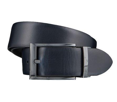 LLOYD Men's Belts Gürtel Herrengürtel Ledergürtel Wendegürtel Schwarz/Blau 3848 – Bild 2