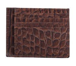bugatti Herren Kreditkartenetui Kartenetui Lederetui Braun 4314