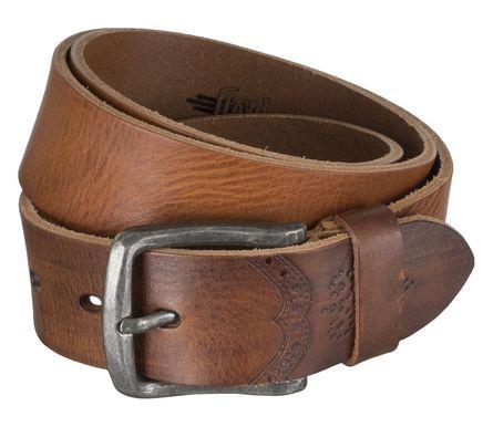 LLOYD Men's Belts Gürtel Herrengürtel Ledergürtel Vollrindleder Brandy 4317 – Bild 2