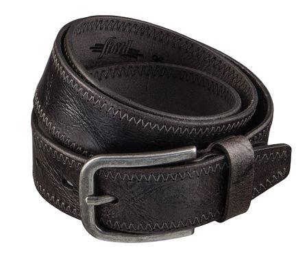 LLOYD Men's Belts Gürtel Herrengürtel Ledergürtel Büffelleder Grau 4321 – Bild 2