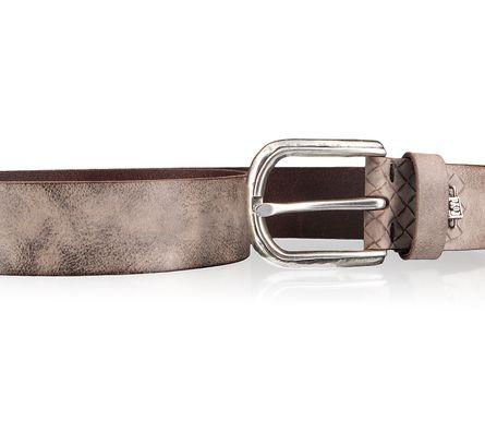 LLOYD Men's Belts Gürtel Herrengürtel Ledergürtel Vollrindleder Braun 4330 – Bild 3
