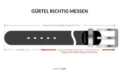 LLOYD Men's Belts Gürtel Herrengürtel Ledergürtel Blau 4759 5