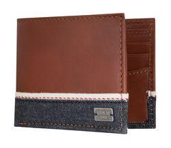 REPLAY Geldbeutel Geldbörse Portemonnaie Leder Braun 5102