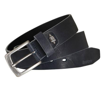 LLOYD Men's Belts Gürtel Herrengürtel Ledergürtel Vollrindleder Marine Blau 5367 – Bild 4