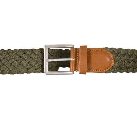 BRAX Gürtel Herrengürtel Textil Flechtgürtel Grün 5405 – Bild 3