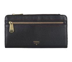 FOSSIL Damen Geldbeutel Portemonnaie Geldbörse mit RFID-Chip Schutz Schwarz 5864