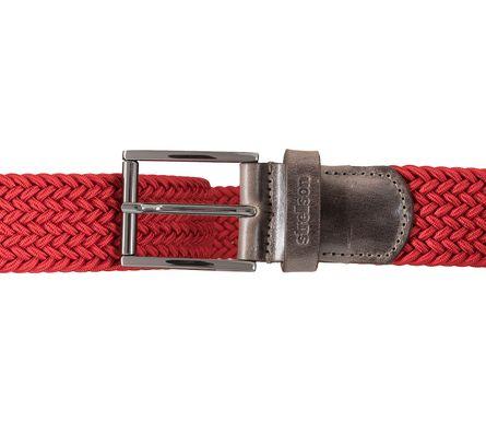 Strellson Gürtel Herrengürtel Flechtgürtel Stretchgürtel Rot 5951 – Bild 3