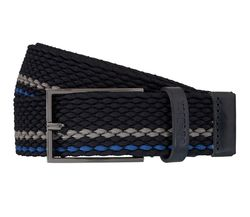 Strellson Gürtel Herrengürtel Flechtgürtel Stretchgürtel Blau 5958