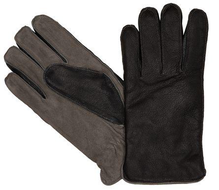 LLOYD Herrenhandschuhe Handschuhe Ziegennappaleder Wildleder Schwarz 6446 – Bild 1