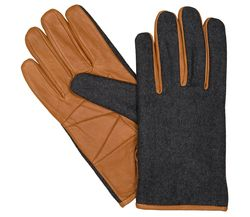 LLOYD Herrenhandschuhe Handschuhe Wollfilz antikes Schafleder Brandy 6450 1