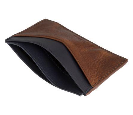 FOSSIL Herren Kreditkartenetui Kartenetui Lederetui Cognac 6561 – Bild 4