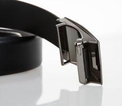 LLOYD Men's Belts Gürtel Herrengürtel Ledergürtel Automatikschleße Schwarz 6600 4