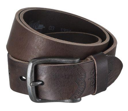 LLOYD Men's Belts Gürtel Herrengürtel Ledergürtel Vollrindleder Braun 6602 – Bild 2