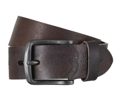 LLOYD Men's Belts Gürtel Herrengürtel Ledergürtel Vollrindleder Braun 6602 – Bild 1