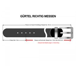 LLOYD Men's Belts Gürtel Herrengürtel Ledergürtel Schwarz 6615 5