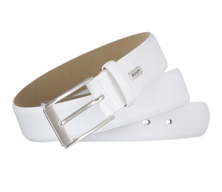 LLOYD Men's Belts Gürtel Herrengürtel Ledergürtel Weiß 6677 – Bild 4