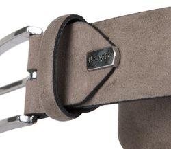 LLOYD Men's Belts Gürtel Herrengürtel Ledergürtel Veloursleder Grau 6831 3