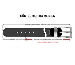 LLOYD Men's Belts Gürtel Herrengürtel Veloursleder Gürtel Grau 6892 5