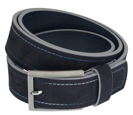 LLOYD Men's Belts Gürtel Herrengürtel Veloursleder Gürtel Blau/Marine 6894 – Bild 2