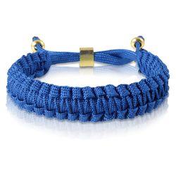 Skipper Flechtarmband Armband Bracelet geflochten aus Nylon in Blau Gold 7171