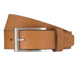 LLOYD Men's Belts Gürtel Herrengürtel Vollrindledergürtel mit Kontrastkanten Cognac 7184