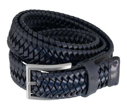 LLOYD Men's Belts Gürtel Herrengürtel Flechtgürtel Marine/Blau 7586 – Bild 2
