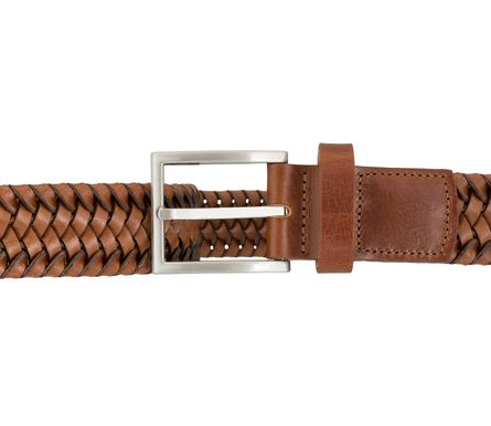 LLOYD Men's Belts Gürtel Herrengürtel Flechtgürtel Cognac 7587 – Bild 3