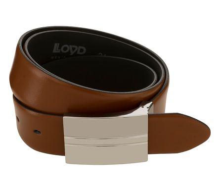 LLOYD Men's Belts Gürtel Herrengürtel Ledergürtel Cognac 8102 – Bild 2
