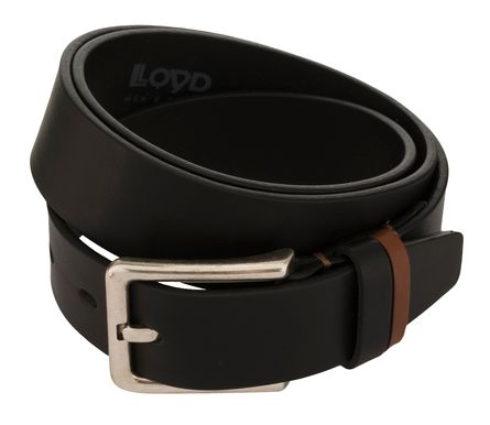 LLOYD Men's Belts Gürtel Herrengürtel Ledergürtel Vollrindleder Schwarz 8381 – Bild 2