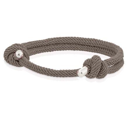 Skipper Armband Surferband Segelknoten maritimes Armband Nylon Grau 8439 – Bild 2