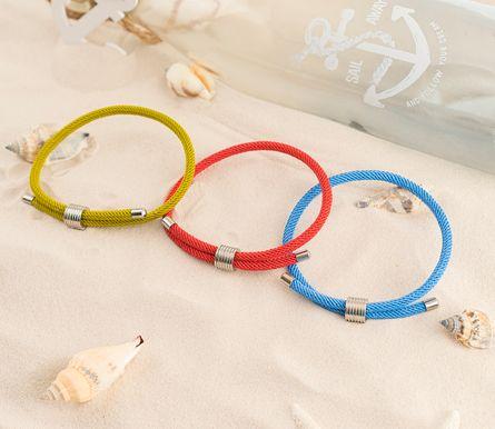 Skipper Armband Surferband maritimes Armband Nylon mit Zugverschluss Blau 8449 – Bild 3