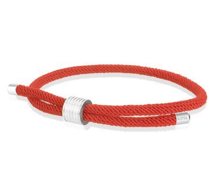 Skipper Armband Surferband maritimes Armband Nylon mit Zugverschluss Rot 8452 – Bild 1