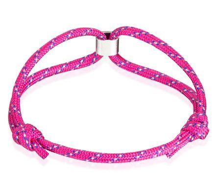 Skipper Armband Surferband Segelknoten maritimes Armband mit Logo Pink Blau 8471 – Bild 3