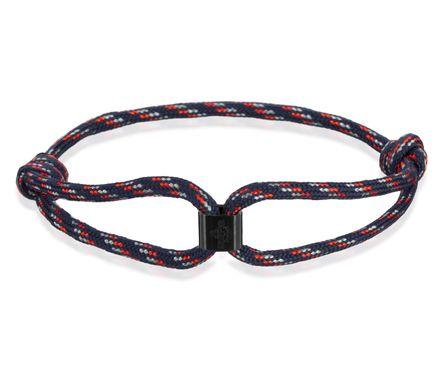 Skipper Armband Surferband Segelknoten maritimes Armband mit Logo Marine 8477 – Bild 1